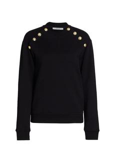 Derek Lam Lucie Sailor Button Sweatshirt