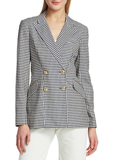 Derek Lam Rodeo Double-Breasted Checker Jacket