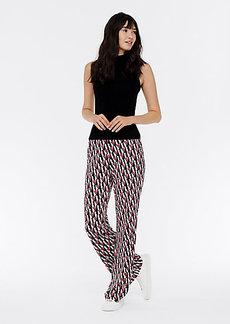 Diane Von Furstenberg Caspian Silk-Jersey Flare Pants