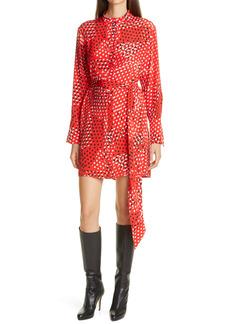 Diane von Furstenberg Nomie Polka Dot Long Sleeve Dress
