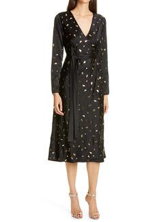 Diane von Furstenberg Tilly Long Sleeve Midi Dress