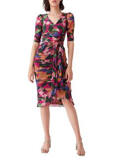 Diane Von Furstenberg DVF Abbie Floral Print Belted Bodysuit