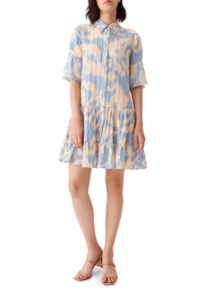 Diane Von Furstenberg DVF Beata Drop Waist Shirtdress