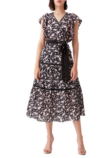 Diane Von Furstenberg DVF Cailey Cotton Eyelet Wrap Top