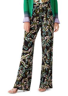Diane Von Furstenberg DVF Caspian Matte Jersey Flare Pants