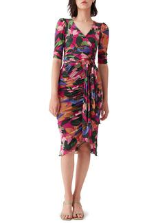 Diane Von Furstenberg DVF Christy Ruched Detail Wrap Dress