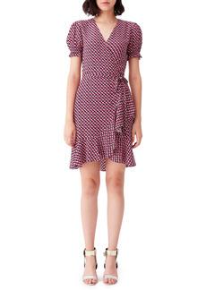 Diane Von Furstenberg DVF Emilia Print Wrap Minidress