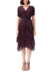 Diane Von Furstenberg DVF Katherine Velvet Burnout Wrap Dress