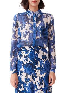 Diane Von Furstenberg DVF Lorelai Floral Button-Up Shirt