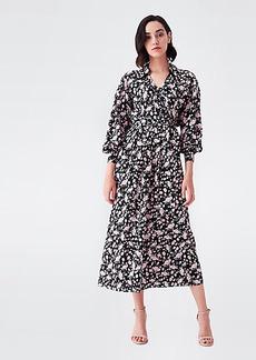 Diane Von Furstenberg Galina Silk Crepe de Chine Trench Wrap Dress