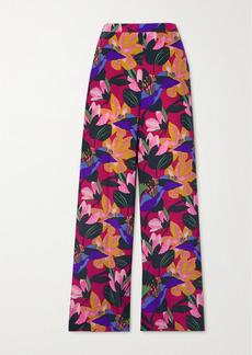 Diane Von Furstenberg Pauline Floral-print Silk Crepe De Chine Wide-leg Pants