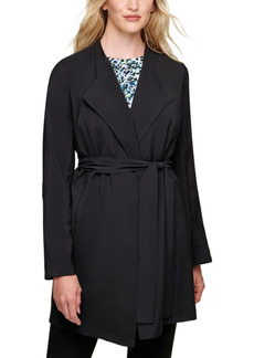Dkny Draped Belted Trench Coat