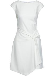 Dkny Woman Asymmetric Draped Crepe Dress Ivory