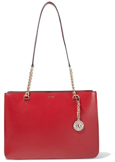 Dkny Woman Bryant Park Textured-leather Tote Red