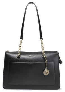 Dkny Woman Bryant Park Textured-leather Tote Black