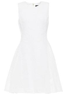Dkny Woman Embroidered Mesh Mini Dress White
