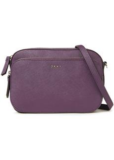 Dkny Woman Faux Textured-leather Shoulder Bag Grape
