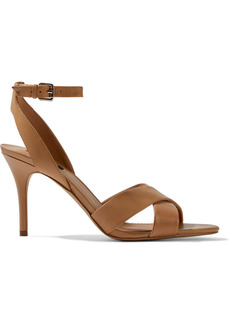Dkny Woman Ivy Leather Sandals Camel
