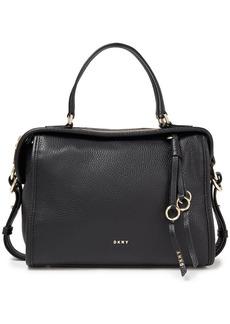 Dkny Woman Marcy Medium Pebbled-leather Tote Black