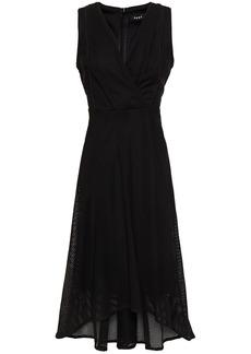 Dkny Woman Mesh Midi Dress Black