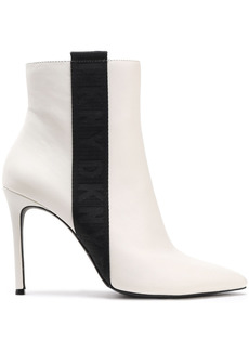 Dkny Woman Ranita Leather Ankle Boots White