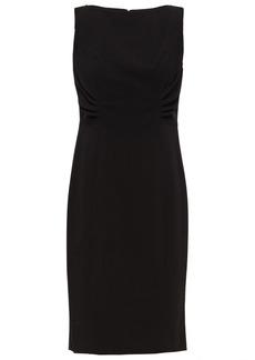 Dkny Woman Ruched Stretch-crepe Dress Black