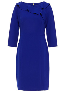 Dkny Woman Ruffled Stretch-crepe Mini Dress Bright Blue