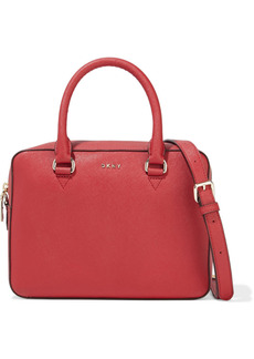 Dkny Woman Sutton Textured-leather Shoulder Bag Red