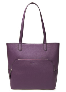 Dkny Woman Textured-leather Tote Grape