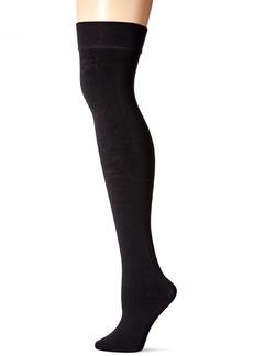 DKNY Women's Fleece Over-The-Knee Tight black