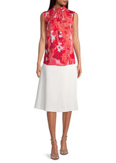 DKNY Tech Cotton A-Line Skirt