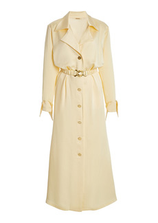 DoDo Bar Or - Women's Tami Belted Satin Shirt Dress - Neutral - Moda Operandi