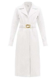 Dodo Bar Or Mia tailored textured-leather dress