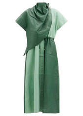 Dodo Bar Or Paula draped leather midi dress