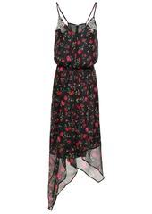 Dodo Bar Or Woman Valentina Asymmetric Embellished Chiffon Dress Black