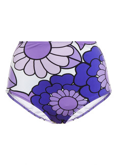 Dodo Bar Or Woman Lulu Floral-print High-rise Bikini Briefs Purple