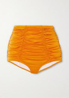 Dodo Bar Or Emma Metallic Ruched Bikini Briefs