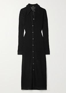 Dodo Bar Or June Pointelle-knit Midi Dress