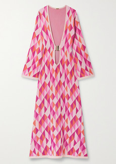Dodo Bar Or Lin Jacquard-knit Maxi Dress