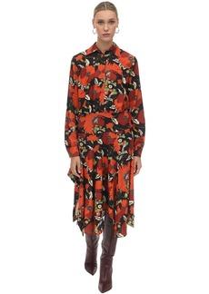 Dodo Bar Or Natasha Asymmetrical Velvet Midi Dress