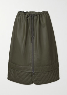 Dodo Bar Or Piki Quilted Leather Skirt