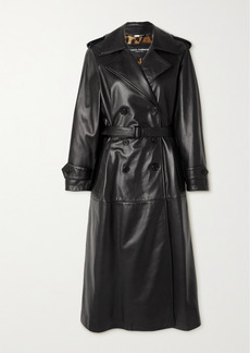 Dolce & Gabbana Belted Leather Trench Coat