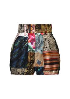 Dolce & Gabbana Brocade Jacquard & Patchwork Mini Shorts