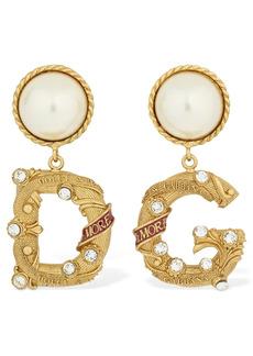 Dolce & Gabbana Dg City Imitation Pearl Clip-on Earrings