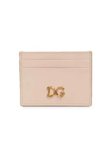 Dolce & Gabbana Dg Girls Barocco Leather Card Holder