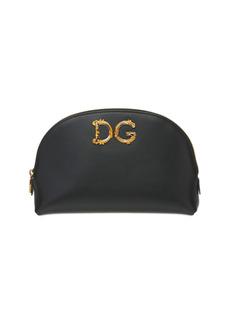Dolce & Gabbana Dg Girls Barocco Leather Make Up Bag
