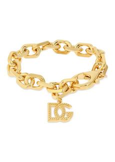 Dolce & Gabbana Dg Logo Charm Chunky Chain Bracelet