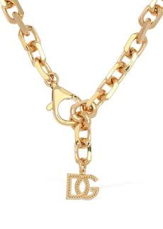 Dolce & Gabbana Dg Logo Charm Chunky Chain Necklace