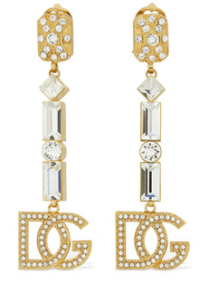 Dolce & Gabbana Dg Pastel Crystal Clip-on Earrings