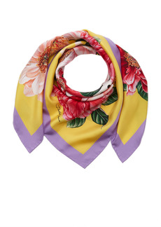 Dolce & Gabbana - Women's Printed Silk Foulard - Floral - Moda Operandi